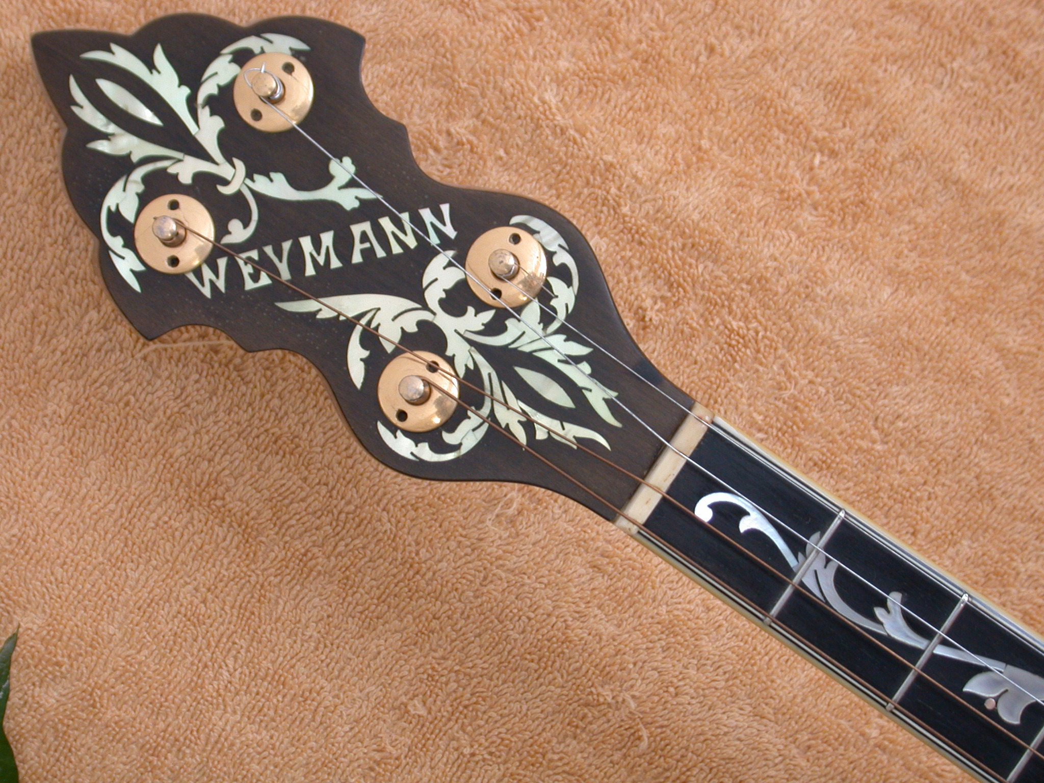 weymann style 4 tree of life inlay ser 45xxx banjoparadise. Black Bedroom Furniture Sets. Home Design Ideas